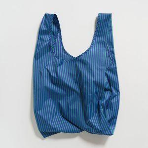 BAGGU Standard Bag ストライプ コバルト×ジェイド