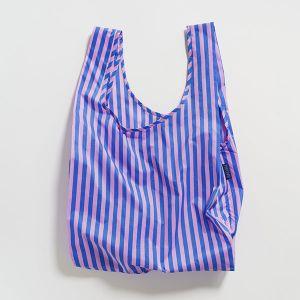 BAGGU Standard Bag ストライプ ピンク×ブルー