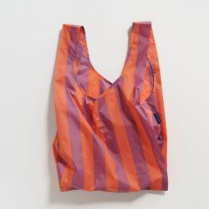 BAGGU Standard Bag ストライプ オレンジ×モーブ