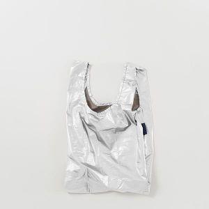 BAGGU Baby Bag メタリックシルバー