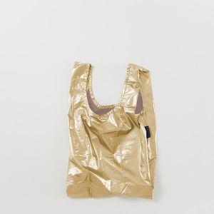 BAGGU Baby Bag メタリックゴールド