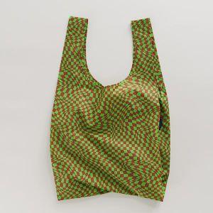 BAGGU Standard Bag チェッカー グリーン×マルーン