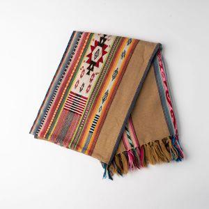 インド刺繍 ジャガードスロー ブラウンミックス