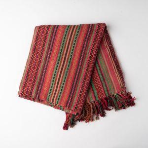 インド刺繍 ジャガードスロー ピンクミックス