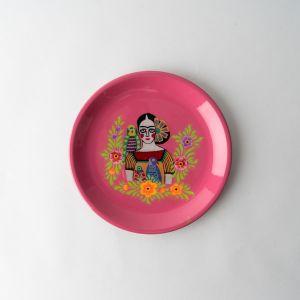 インド ラウンドトレイ ピンク