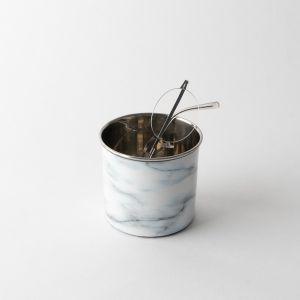 スチール プランターカップ マーブル