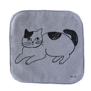 松尾ミユキ ハンドタオル CAT グレー
