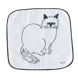 松尾ミユキ ハンドタオル CAT ホワイト