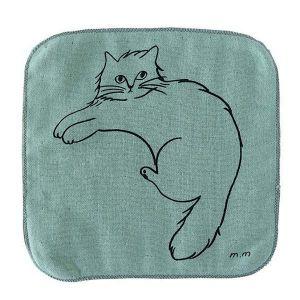 松尾ミユキ ハンドタオル CAT グリーン