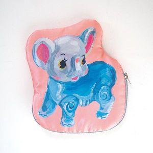 ナタリーレテ サテンポーチ ELEPHANT