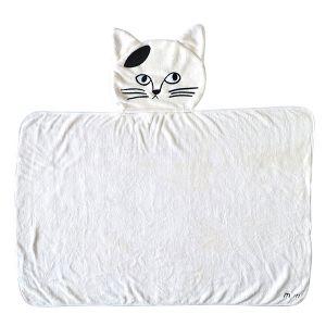 松尾ミユキ Cat Faceブランケット アイボリー