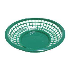 ファストフードバスケット ラウンド グリーン / FAST FOOD BASKET ROUND