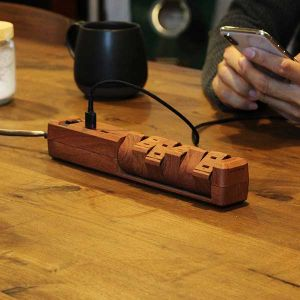 【オンライン限定】TAPKING USB AC6個口 3.4A USB2ポート ダークウッド