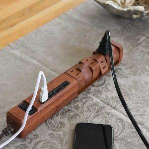 【オンライン限定】TAPKING USB AC6個口 4.8A USB4ポート ダークウッド
