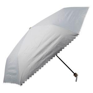 晴雨兼用ミニ傘 ギザギザヒートカット グレー