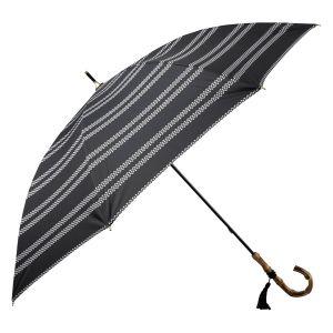 晴雨兼用長傘 レテボーダー ブラック