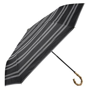 晴雨兼用ミニ傘 レテボーダー ブラック