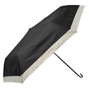 晴雨兼用ミニ傘 ゴールドライン切替 ブラック