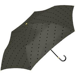 ラインドット 折り畳み傘 ブラック