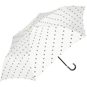 ラインドット 折り畳み傘 アイボリー