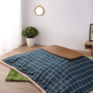 【オンライン限定】ヘリンボーン こたつテーブル 90cm ブラウン