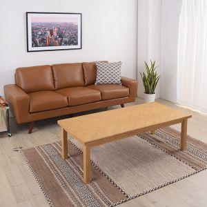 【オンライン限定】ヘリンボーン こたつテーブル 130cm ナチュラル