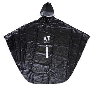 A/D2 レインポンチョ ブラック