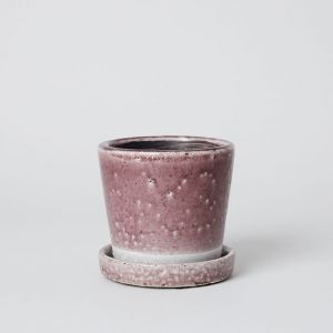 COLOR GLAZED POT Light purple
