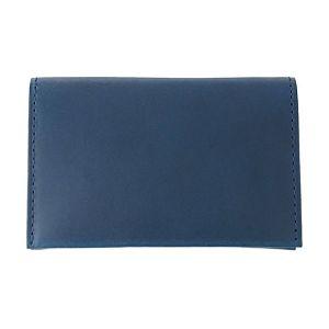 【名入れ】銀箔押し/活字書体BT ネームカードケース ブルー