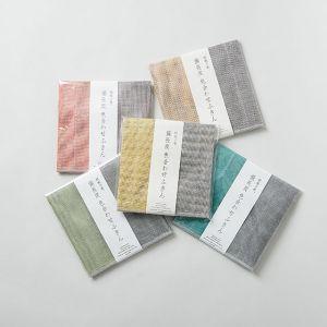 【5色SET】丸山繊維 蚊帳の夢 備長炭 色合わせふきん