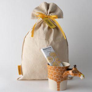 【ギフトセット】アニマルマグ&フェアトレードチョコレート(キリン)