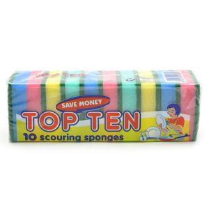 TOP TEN Scouring Spongesは小さめのスポンジがたっぷり10個入ったお得なセットです。