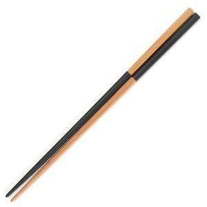 箸 竹市松 ブラック