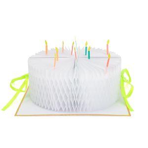 Meri Meri ハニカムグリーティングカード バースデーケーキ