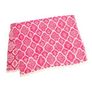 手織りのジャガード織で作られたスローです。