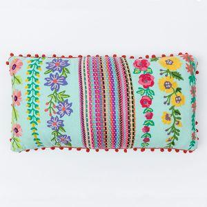 インド刺繍 ロングクッション 30×60