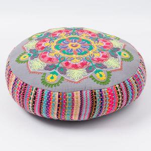インド刺繍 プーフ