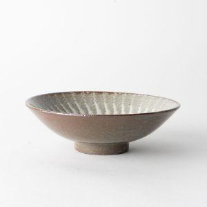 長十郎窯 粉引打ち刷毛 平鉢