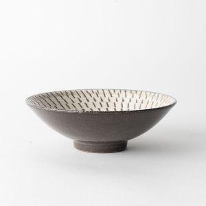長十郎窯 飛び鉋 平鉢