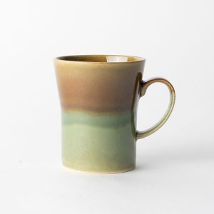 FolkDesign マグカップ 掛分織部 飴釉