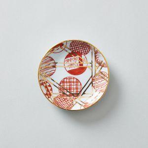 amabro/アマブロ MAME 豆皿 丸散赤丸