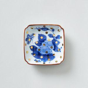 amabro/アマブロ MAME 豆皿 牡丹蝶文角皿