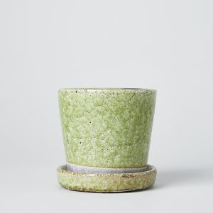 COLOR GLAZED POT Lime