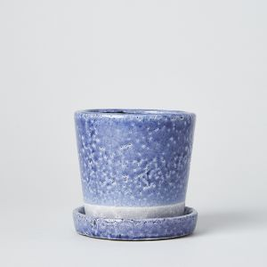COLOR GLAZED POT Violet