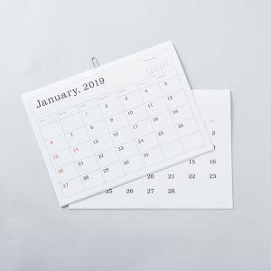 ANDO GALLERY/アンドーギャラリー カレンダー2019 罫線なし
