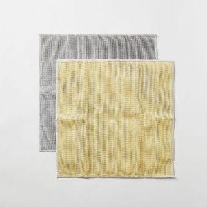 丸山繊維 蚊帳の夢 備長炭 色合わせふきん 刈安