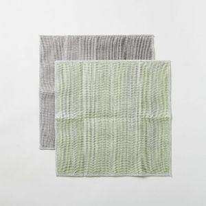 丸山繊維 蚊帳の夢 備長炭 色合わせふきん 裏葉