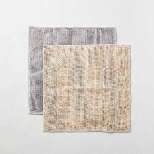 丸山繊維 蚊帳の夢 備長炭 色合わせふきん シェルピンク