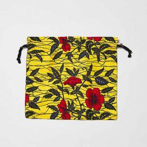 RuiseB/ルイズビィ ファブリック巾着 M イエロー