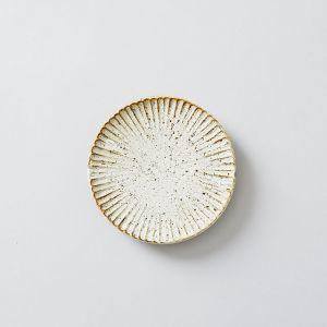 SHINOGI 4寸皿 土灰釉 / 向山窯×TODAY'S SPECIAL